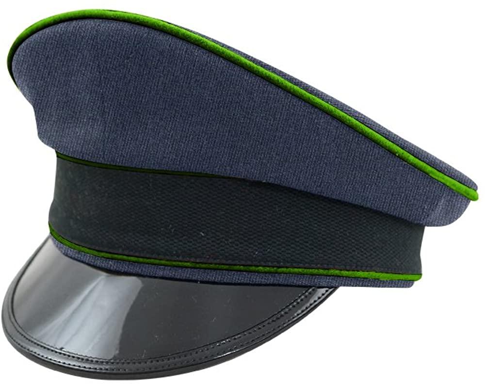 WW2 German Luftwaffe Air Traffic Control blue Gabardine Visor cap