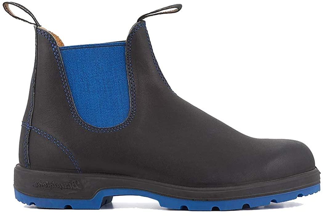 Blundstone 1403 Chelsea Boots Blue & Black Premium Leather Australian Ankle Boot