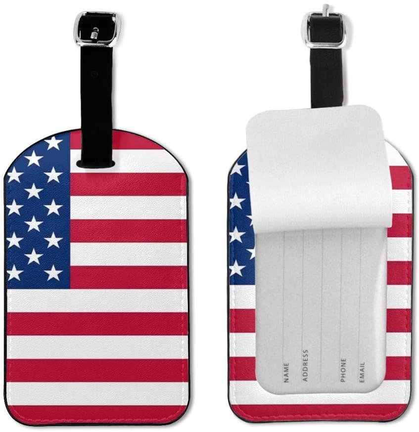 Wehoiweh American Us Flag Luggage Tag