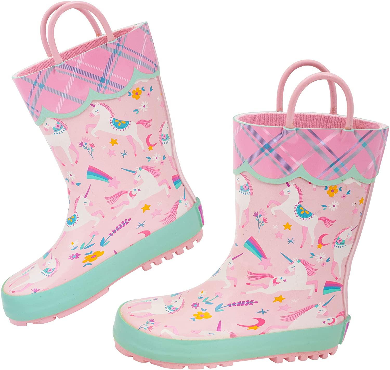 Stephen Joseph Kids Rain Boots Rainboots, PINK UNICORN, 9