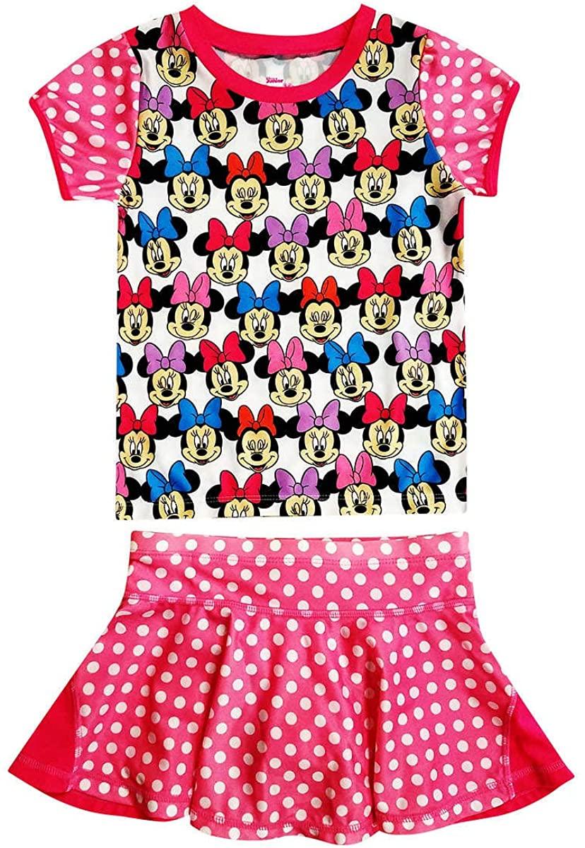 Dreamwave Girls Disney Minnie Mouse Rash Guard Set