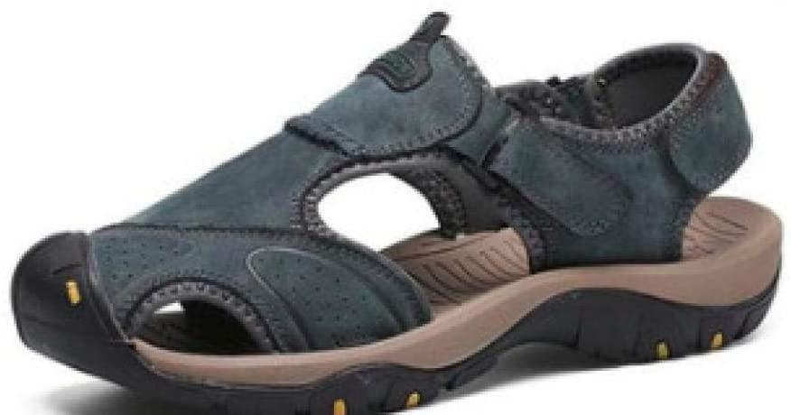 Sandals Men's Shoes Handmade Beach Shoes Summer Men's sandals-7238 Blue_47