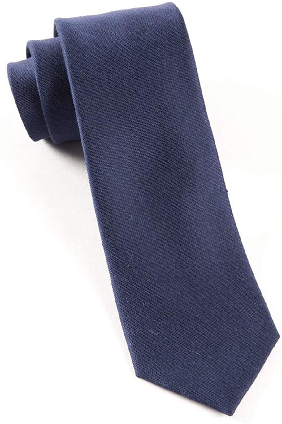 Sand Wash Solid Linen Blend Tie