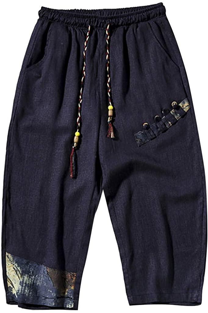 GLVSZ Men's Capri Shorts Pants Casual 3/4 Water Resistant Tactical Cargo Short