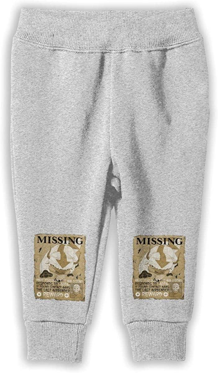 Missing Bison Poster Appa Boys Girls Sport Pants Sweatpants Unisex Gray