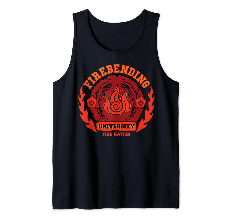 Fire bending University Logo Fire Nation Tank Top