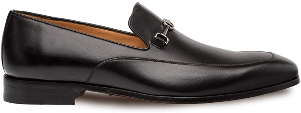 Mezlan Falcon - Mens Luxury Lightweight Dress Slip-Ons with Matte Silver Ornament - Smooth European Calfskin Loafer - Handcrafted in Spain - Medium Width