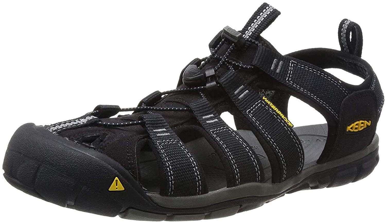 KEEN Men's Clearwater CNX Sandal,Black/Gargoyle,13 M US