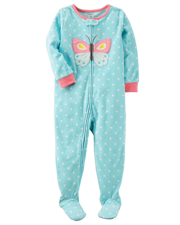 Carter's Baby Girls' 12M-4T One Piece Butterfly Fleece Pajamas 18 Months