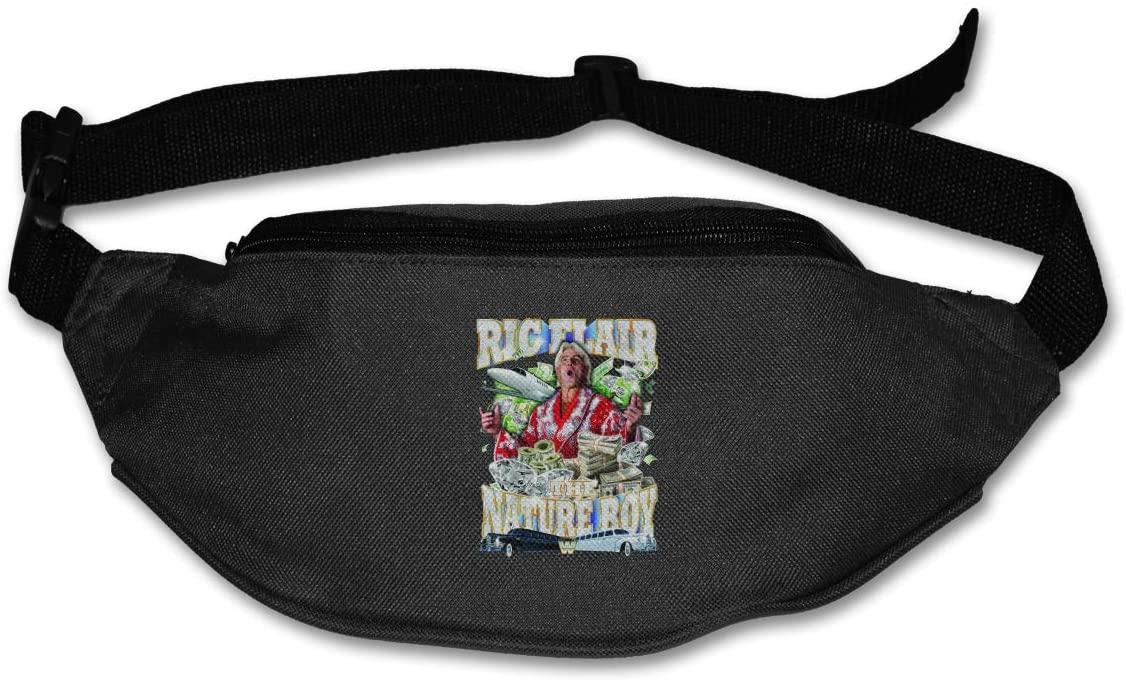 Ertregysrtg RIC Flair – The Nature Boy Wooooo Runner's Waist Pack Fashion Sport Bag