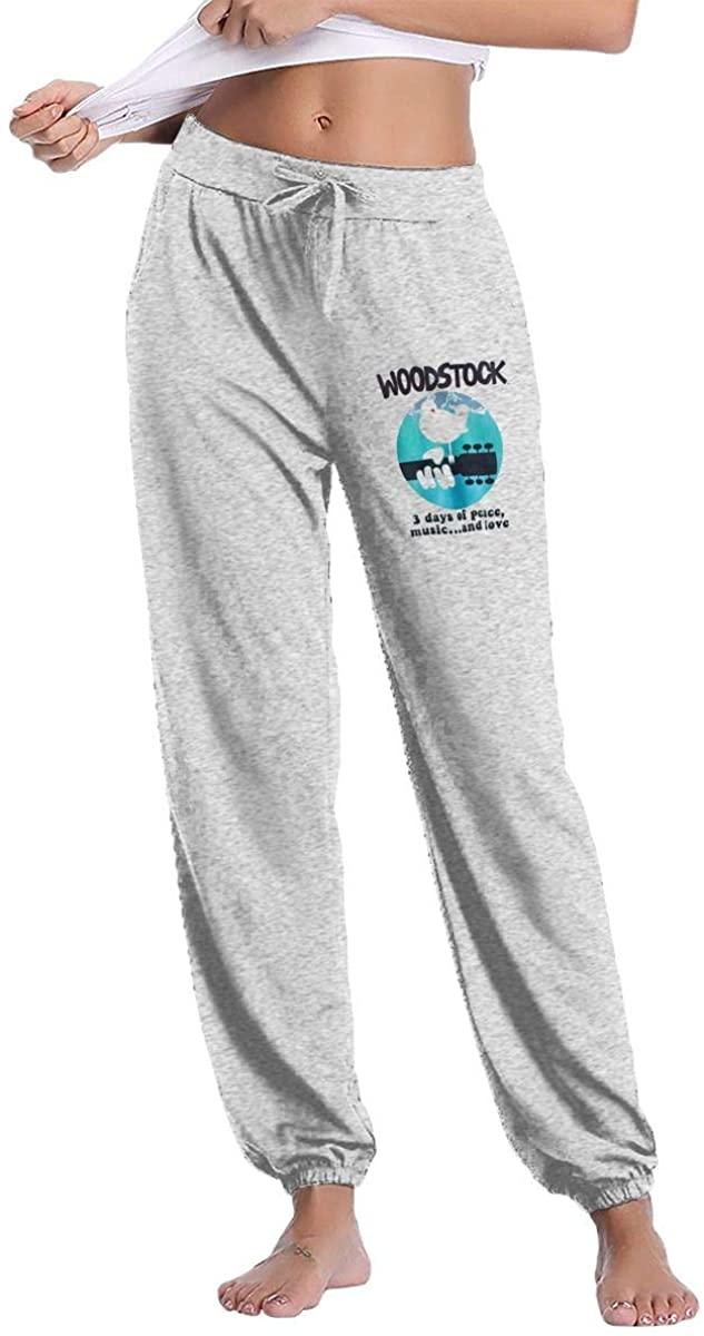 Chensheng Woodstock Banded Casual Sweatpants Women's Long Pants