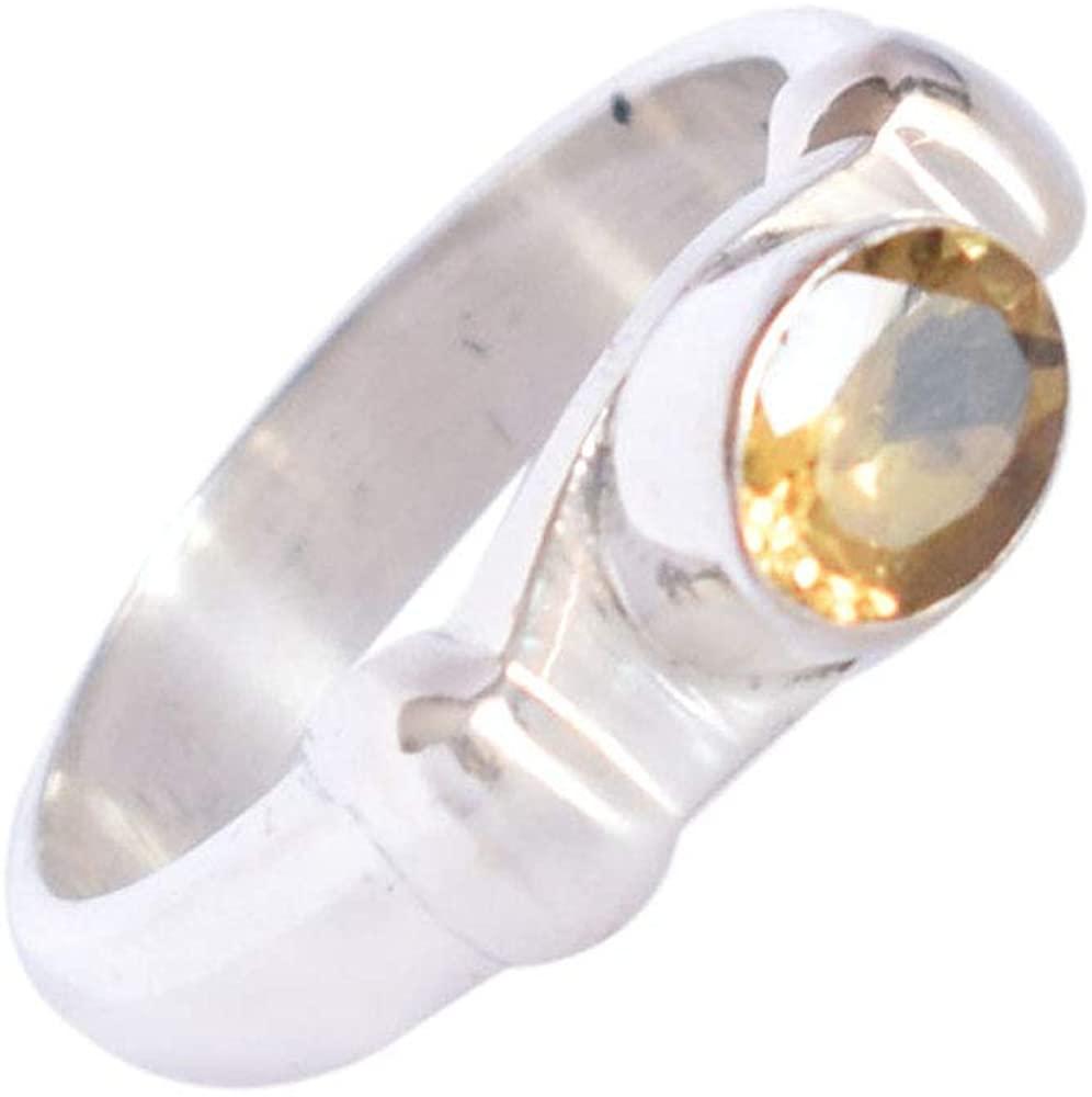 Ravishing Impressions Natural Citrine 925 Sterling Silver Ring Jewellery for Girls & Women FSJ-2983