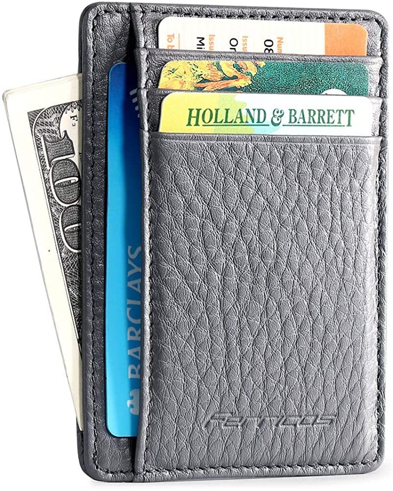 Ferricos Slim Wallet-Minimalist Front Pocket Men's Money Credit Card Wallet RFID Blocking