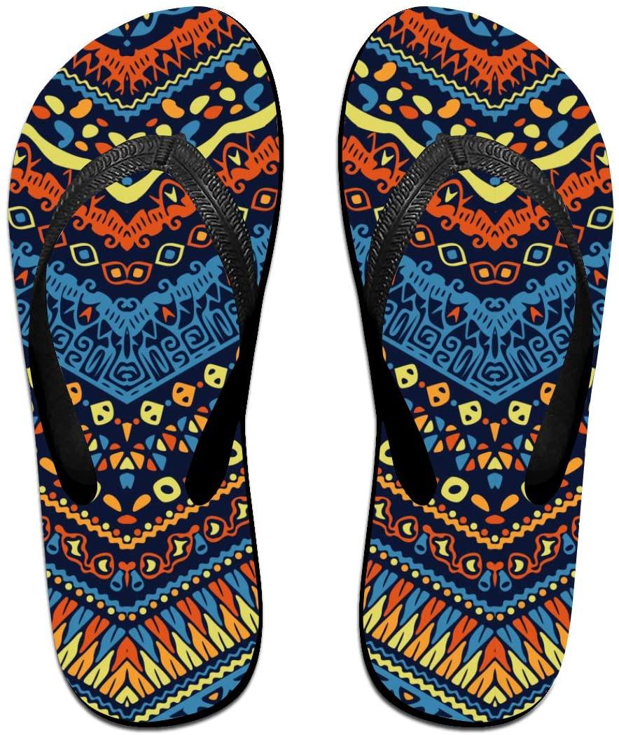 seaEagle African Tribal Native Wave Stripes Slipper Flip Flop Shower Sandals