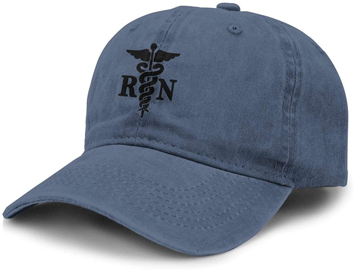 Nurse Cowboy Hat for Outdoor Adjustable Washed Sport Sun Hat