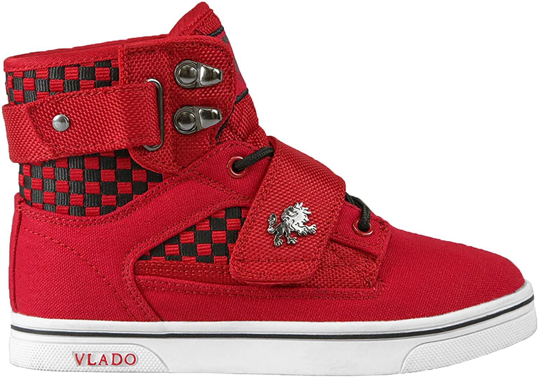 Vlado Footwear Kids Canvas Cordura Weiving Red Black US 1Y