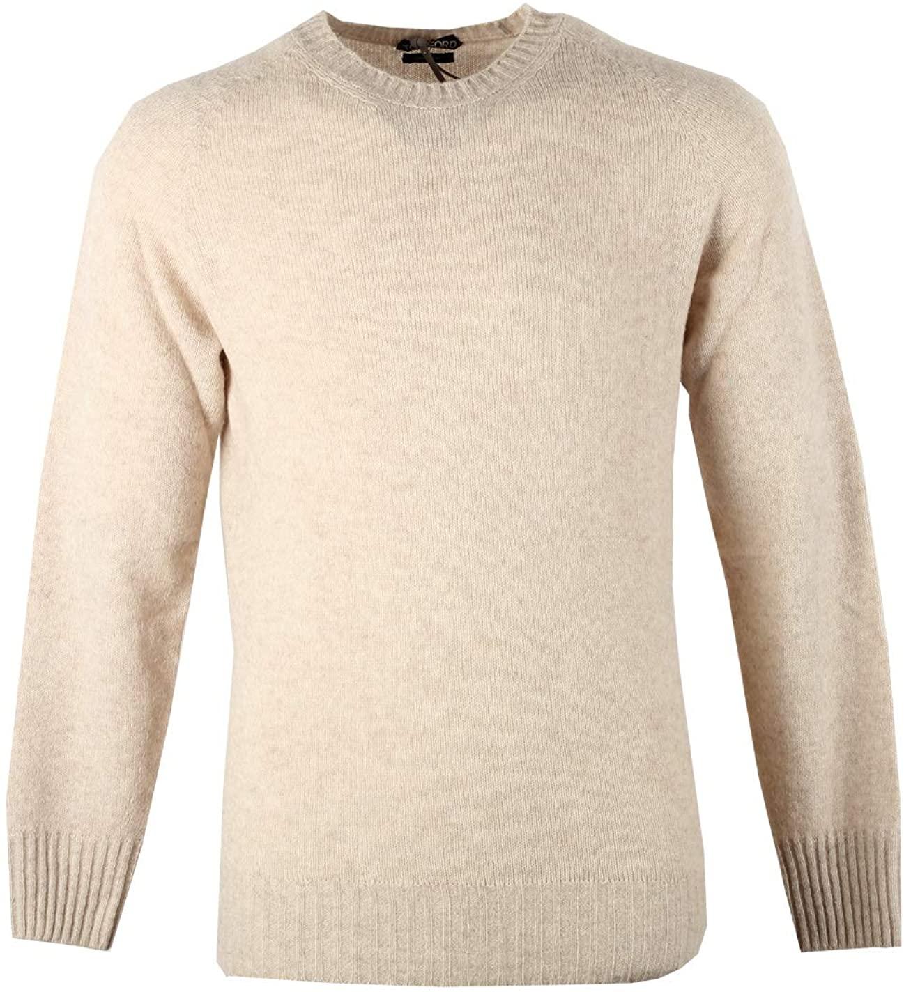 CL - Tom Ford Beige Crew Neck Sweater Size 48 / 38R U.S. in Cashmere Blend