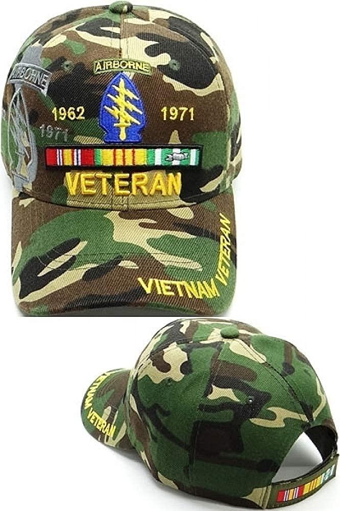 Cultural Exchange Special Forces Airborne Vietnam Veteran Ribbon Shadow Mens Cap