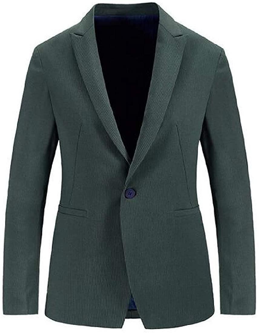 Men One Button Casual Business Slim Dress Blazer Jacket Sport Coat