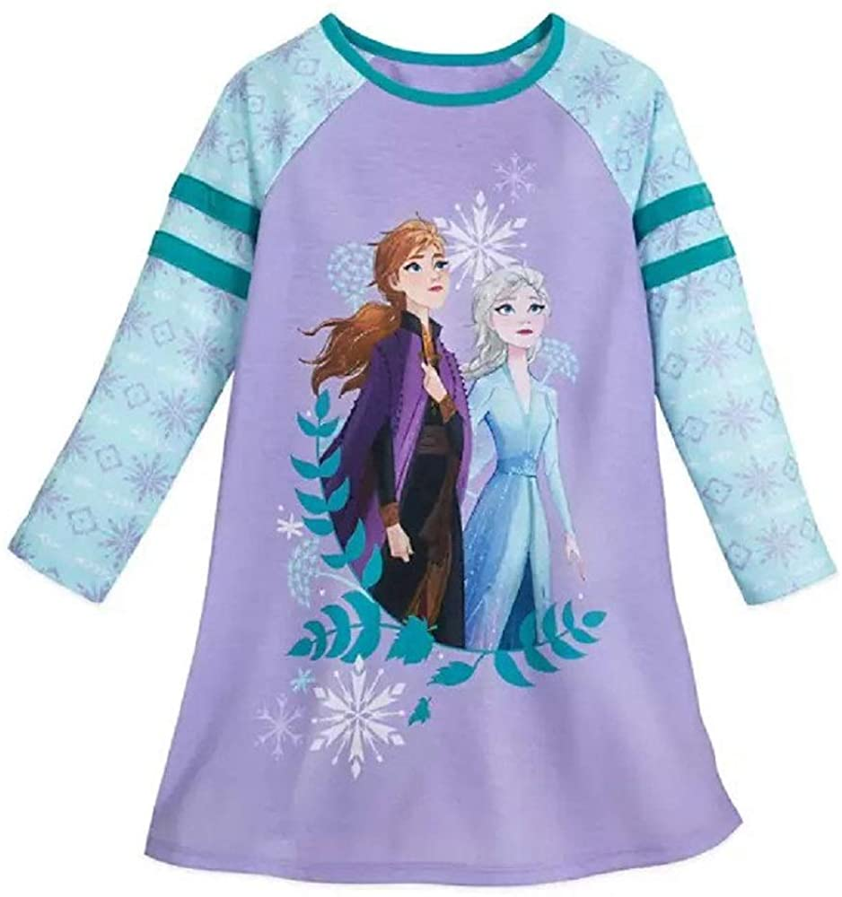 Shop Disney Anna and Elsa Long Sleeve Nightshirt for Girls – Frozen 2