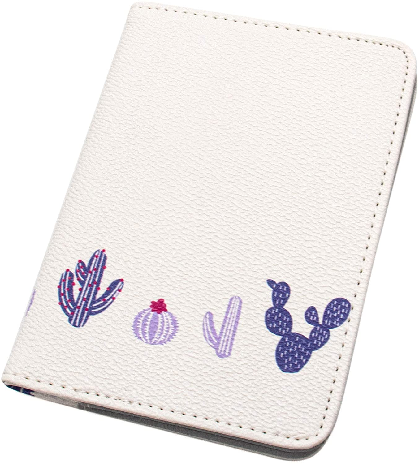 AUEAR, Passport Holder Cover Passport Cover Protector Multifunctional Pu Leather Folder Cactus Pattern Travel Wallet for Credit Cards Tickets and Boarding Pass