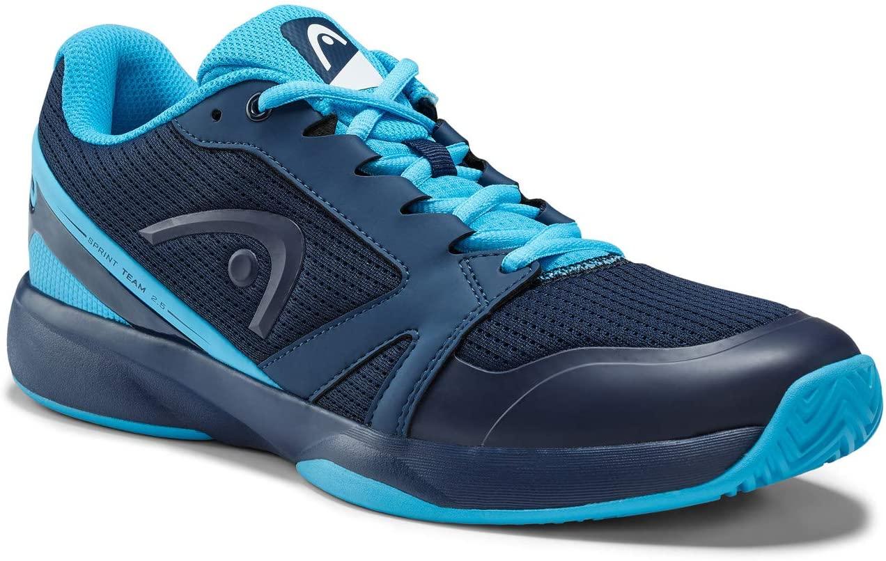 Head Mens Sprint Team 2.5 Tennis Shoe, Dark Blue/Aqua, 41 EU (7 UK)