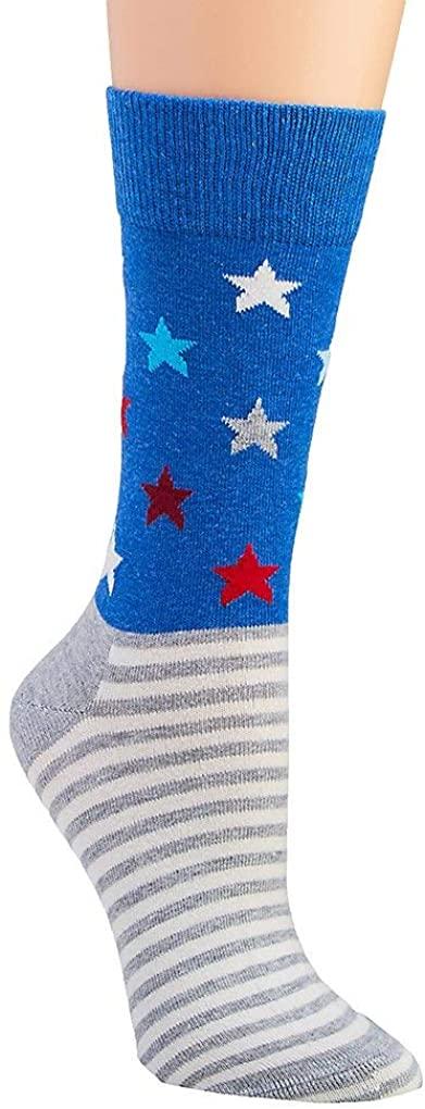 Happy Socks Women's Americana Star Stripe Crew Sock LSAS01