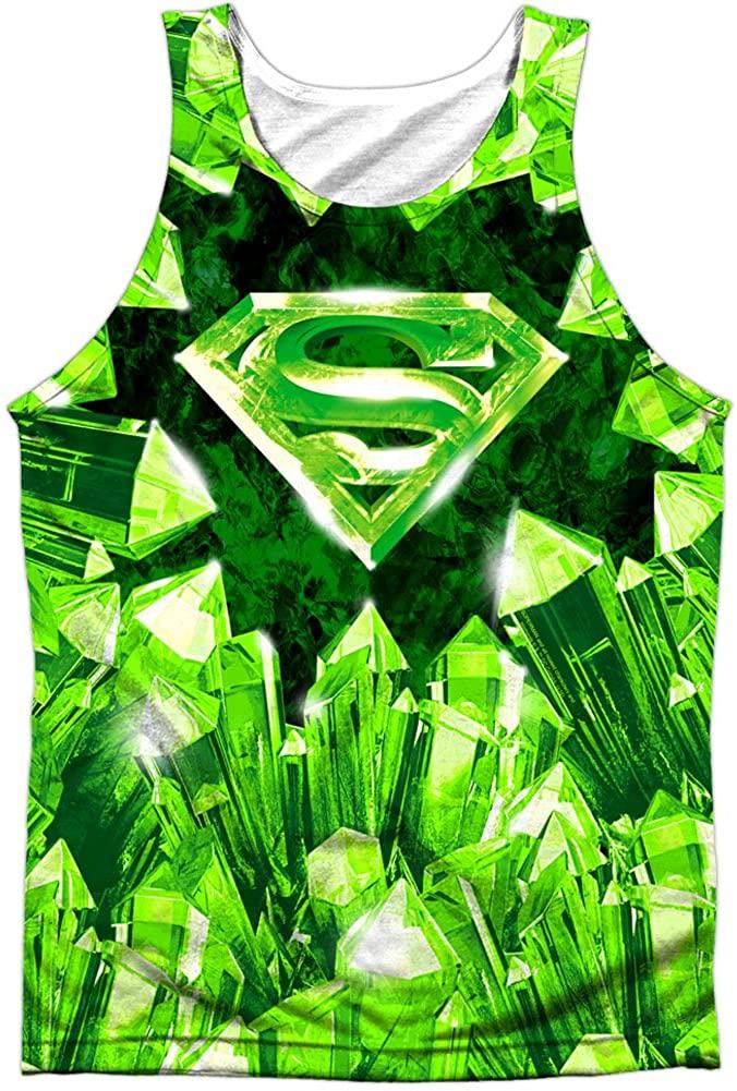 Superman Men's Kryptonite Shield Mens Tank White