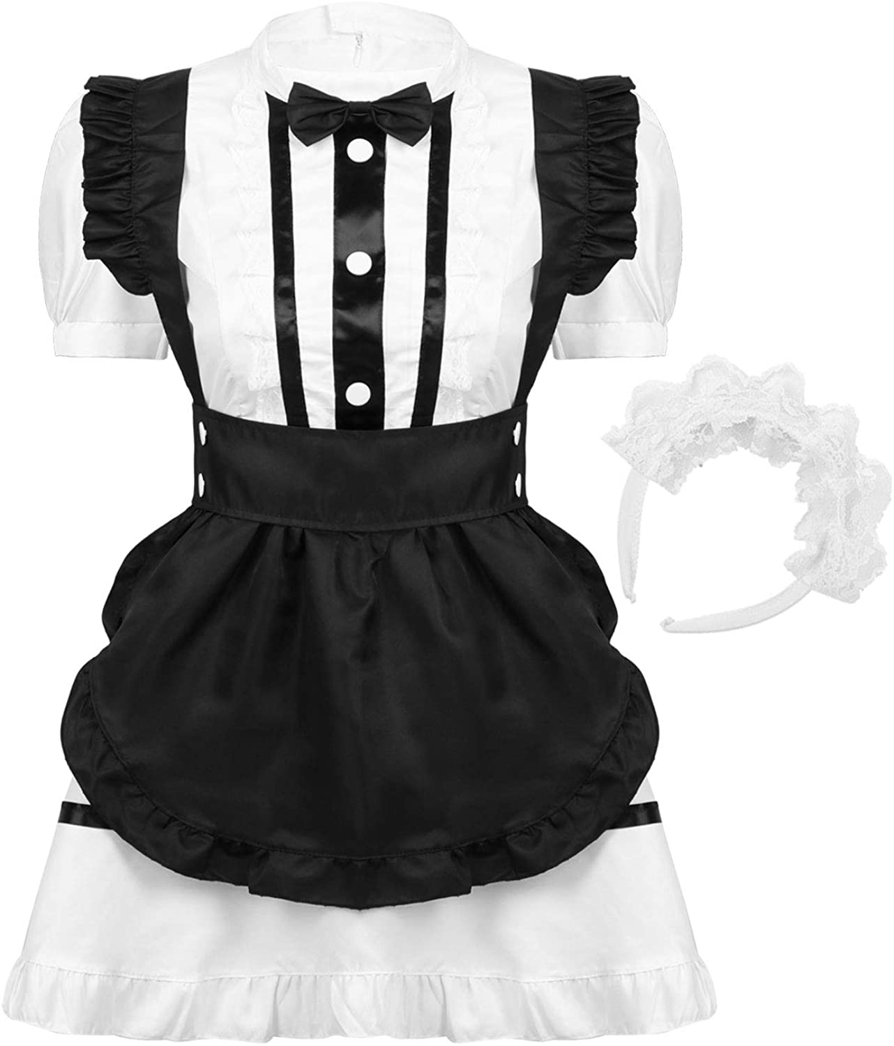 MSemis Woman's Anime French Maid Halloween Costume Anime Cosplay Outfit School Girl Fancy Dress