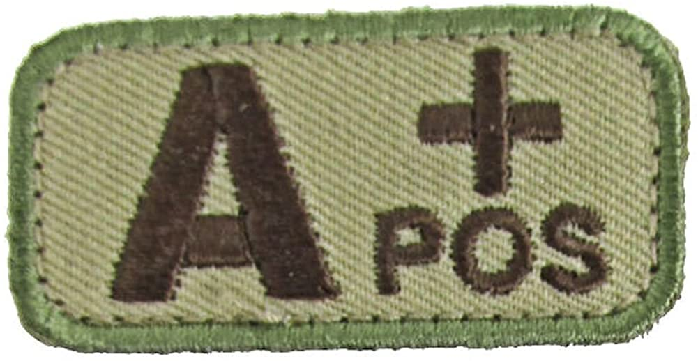 Blood Type Patches - Mil-Spec Monkey MULTICAM (A POS)