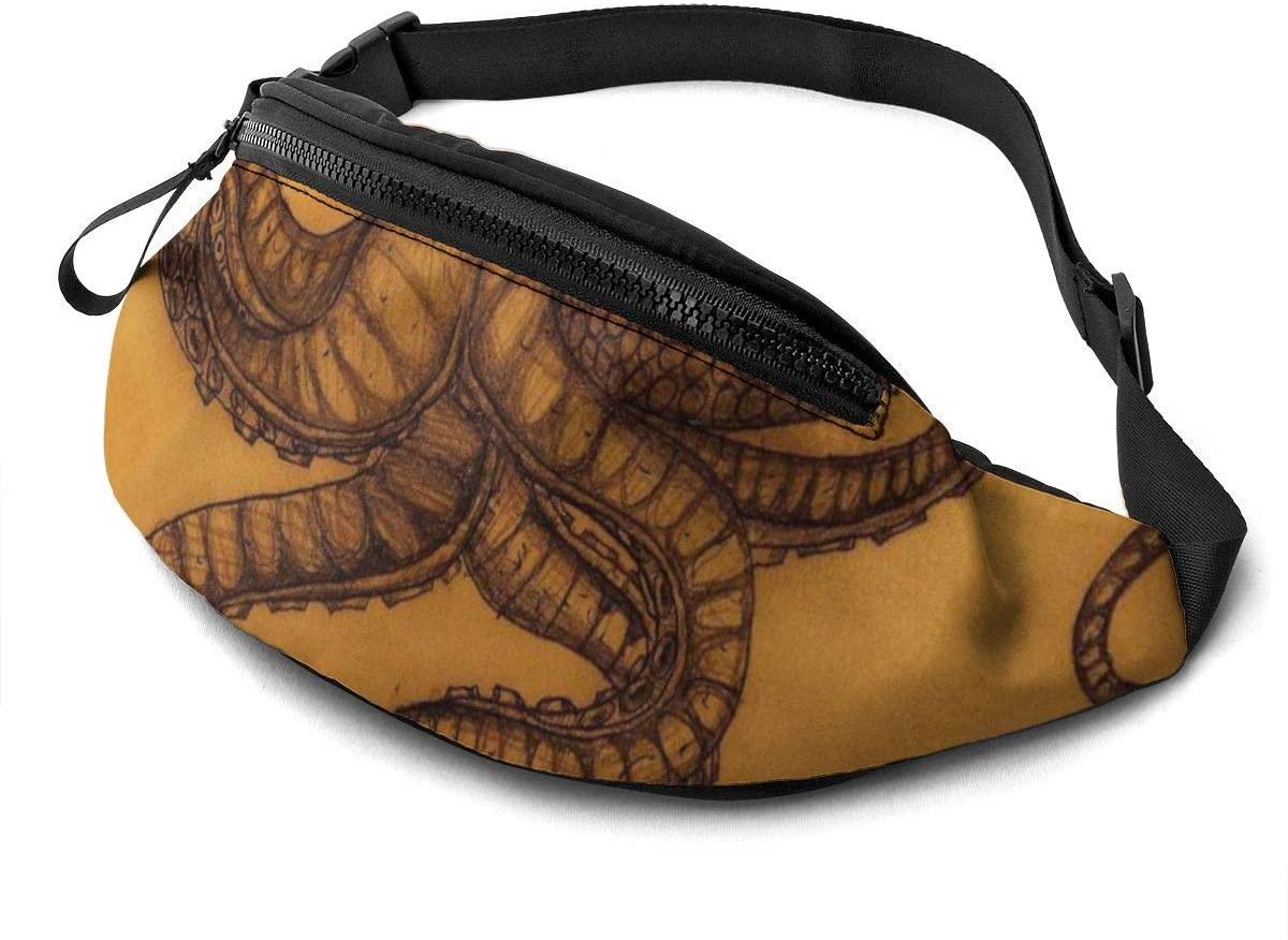 Exotic Ocean Animals Octopus Art Fanny Pack Fashion Waist Bag