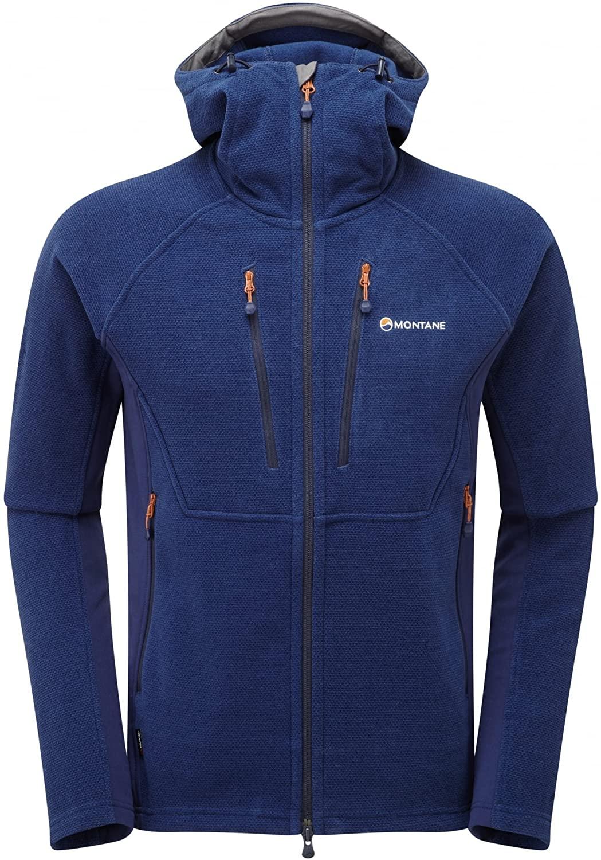 MONTANE Mens Volt ALPINISTE Fleece Jacket Antarctic Blue (Small)