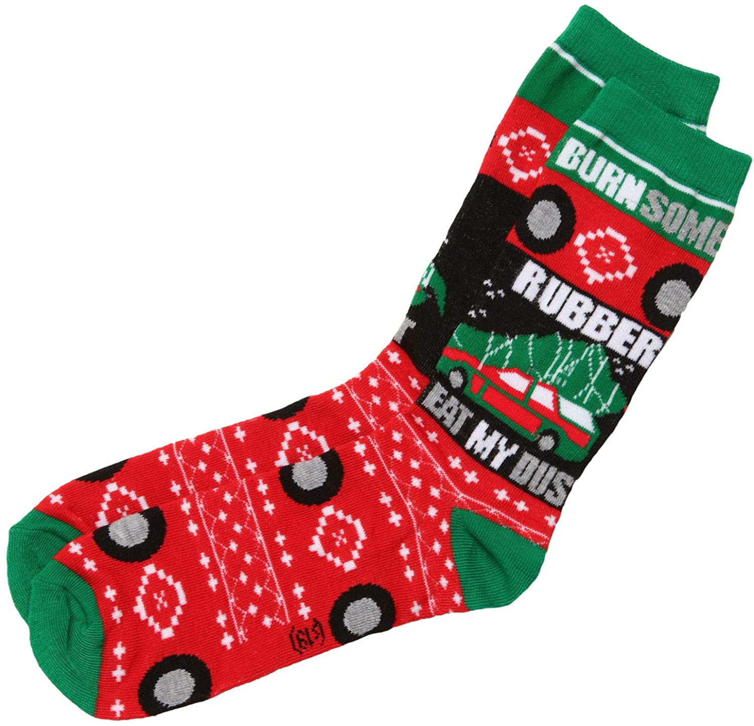 National Lampoons Christmas Vacation Burn Some Rubber Crew Socks