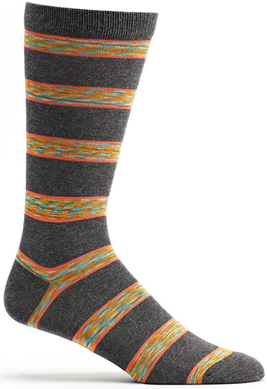 Ozone Men's Space Dye Stripe Sock, Grey