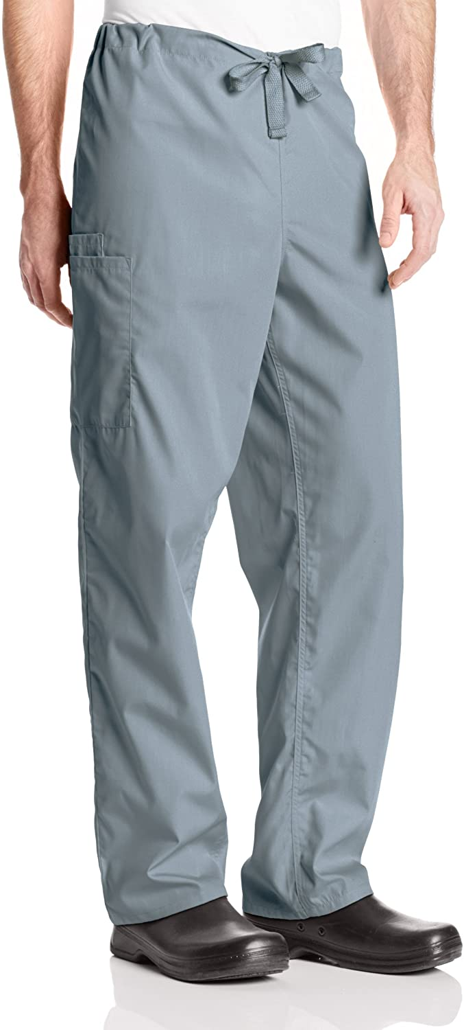 Cherokee Originals Unisex Drawstring Cargo Scrubs Pant, Grey, Medium Short