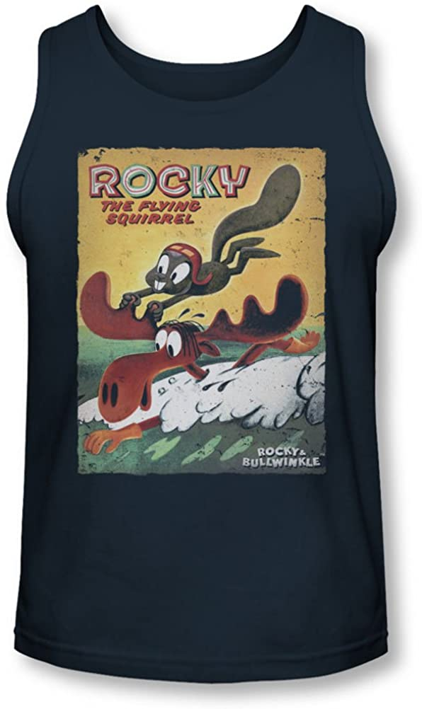 Rocky & Bullwinkle - Mens Vintage Poster Tank-Top