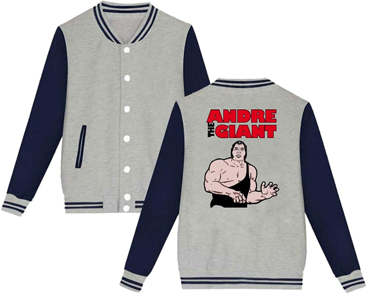 1763 Andre The Giant Wrestling Unisex Baseball Jacket Varsity Jacket