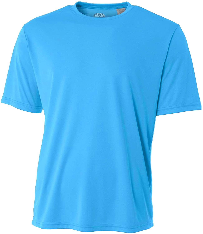 Mens Rash Guard Surf Swimwear Swim Shirt SPF Sun Protection Loose Fit Fitting Electric Blue