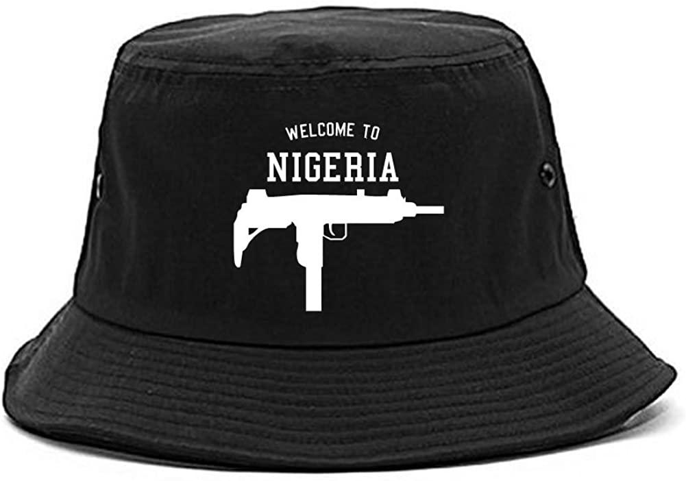 Kings Of NY Welcome to Nigeria Uzi Machine Guns Country Bucket Hat
