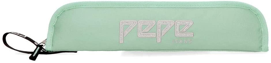 Pepe Jeans Pencil Cases, Green (Verde), 37 centimeters
