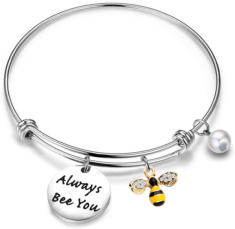Gzrlyf Bee Bracelet Always Bee You Inspirational Bracelets Bee Lover Gifts
