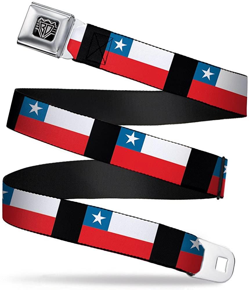 Buckle-Down Seatbelt Belt - Chile Flags - 1.0
