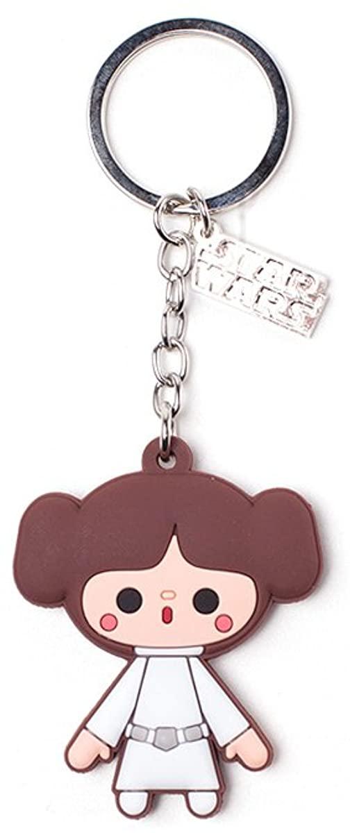 Princess Leia Kawaii Rubber Keyring Keychain