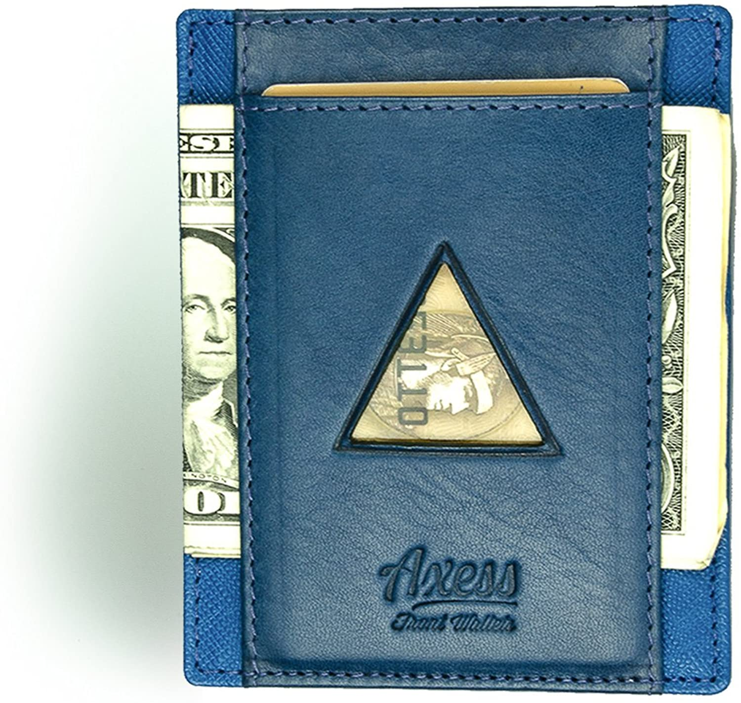 Tuscany Leather & Saffiano leather RFID-blocking Front Pocket Strap Wallet
