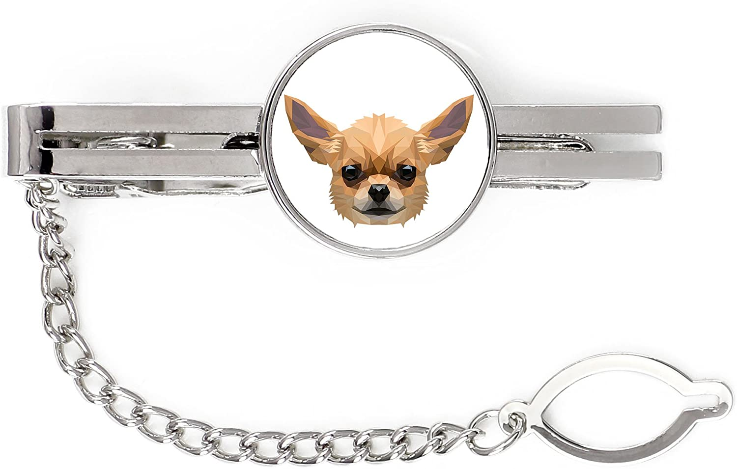 Chihuahua, tie pin, Clip with an Image of a Dog, Elegant, Geometric