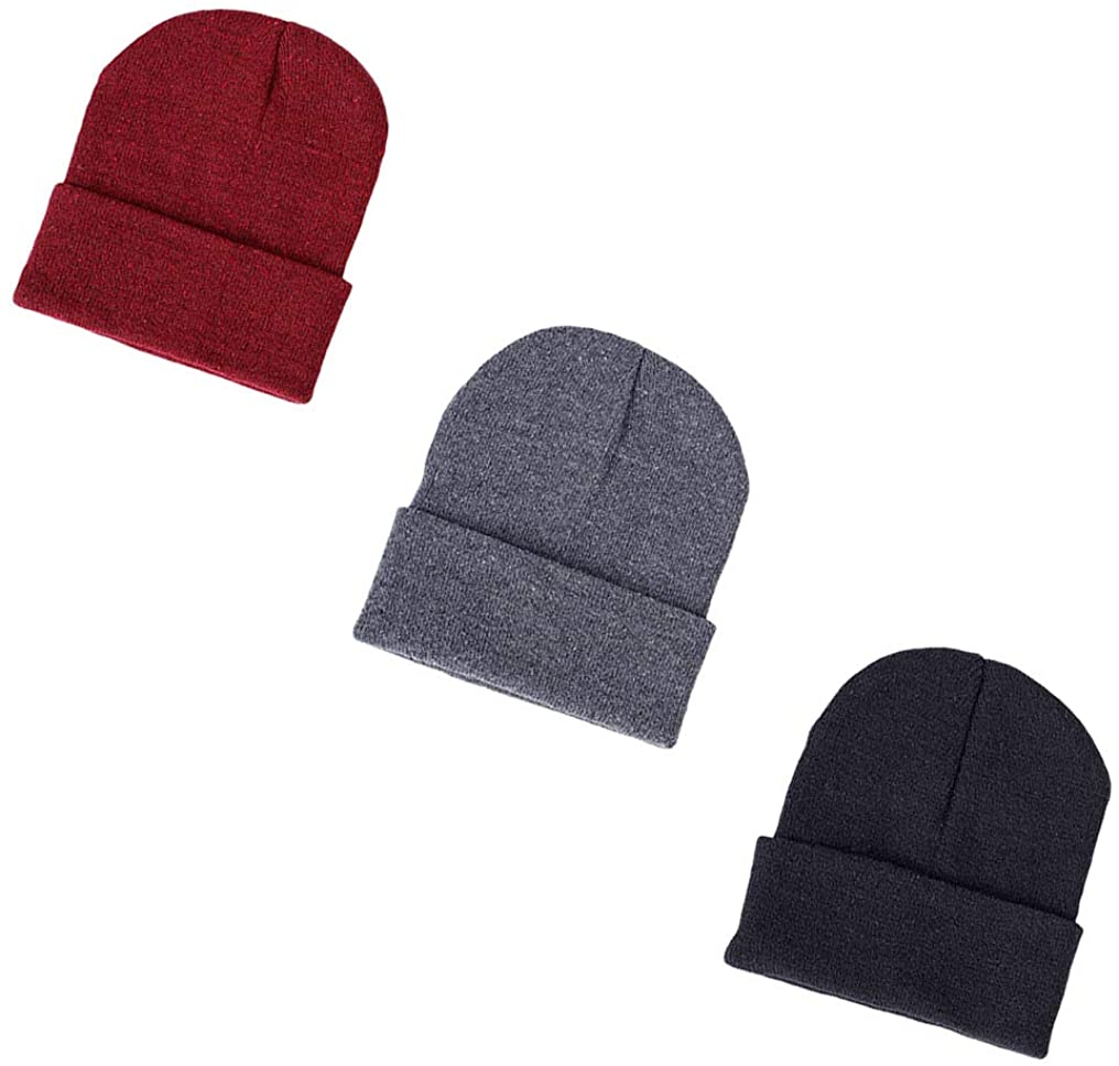 LHTHZHY Slouchy Beanie Hats Winter Knitted Caps Soft Warm Ski Hat Stretchy Cap for Men Women Unisex