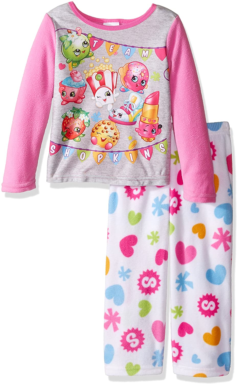 Shopkins Girls' 2-Piece Fleece Pajama Set