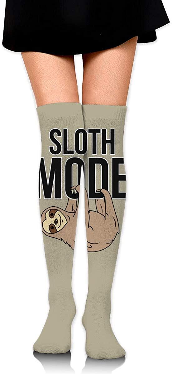 Sloth Mode2 Unisex Knee High Socks Work Athletic Over Long Stockings