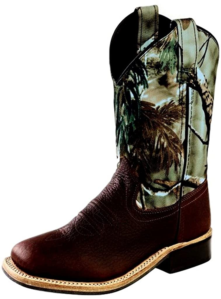 Old West Jama Corporation Boys Kid s Thunder Rust Cowboy Boots 12 M US Little Kid Oiled Rust