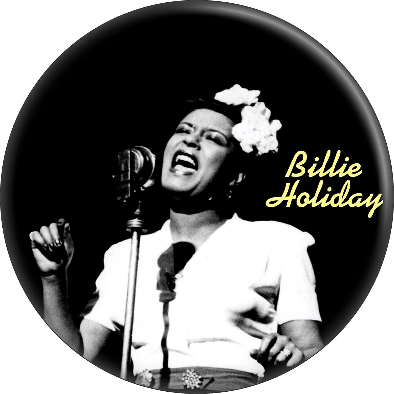 Billie Holiday - Singing - 1.25 Round Button